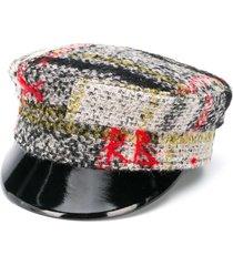 ruslan baginskiy patent peak baker boy cap - black