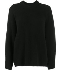 3.1 phillip lim ls crew neck sweater - black