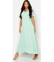 cape detail chiffon maxi dress, mint
