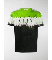 valentino logo print tie-dye t-shirt