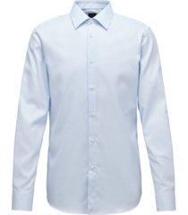 boss men's t-carl light pastel blue shirt