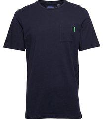ams blauw classic pocket tee t-shirts short-sleeved blå scotch & soda