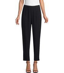 system silk georgette slouchy ankle pants