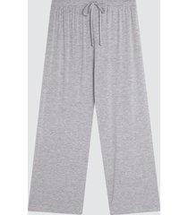 pantalon mujer amplio color gris, talla l
