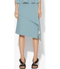 proenza schouler pointelle knit skirt grey/off white/blue l
