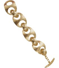 chunky ridge chain bracelet