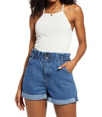 women's bp. ribbed tie back crop tank, size x-large - ivory