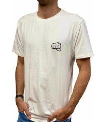 camiseta básica big logo beige fist