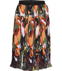 yasmalin hw skirt ft knälång kjol multi/mönstrad yas