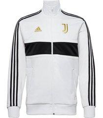juve 3s trk top sweat-shirt trui wit adidas performance
