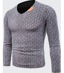 maglietta intima di base di maglieria intima calda di autunno di maglieria di colore solido di autunno di caduta degli uomini