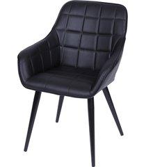 cadeira dana com braço gila - preto