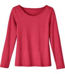 shirt met ronde hals van bio-katoen, sangria 38