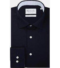michaelis navy shirt met patroon in boord