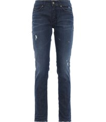 gaynor skinny fit low waist jeans