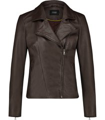 ibana leren jacket 301930060 waves brown