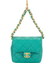 chanel pre-owned 1989 mini pouch - blue