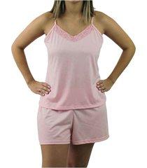 pijama de alcinha touro boots feminino rosa liso - kanui