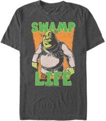 fifth sun shrek men's swamp life poster short sleeve t-shirt