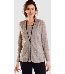 2-in-1-blouse paola grijs::zwart