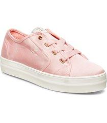 leisha low lace shoes låga sneakers rosa gant