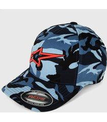 gorra azul-rojo alpinestars visible hat