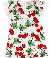 monnalisa cherries print dress