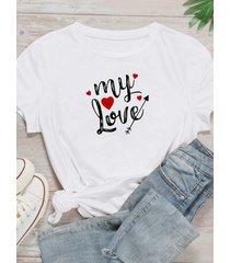 camiseta de manga corta con cuello redondo y tallas grandes