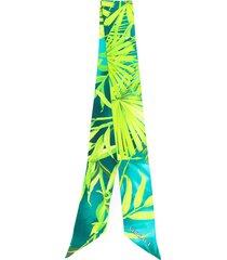 versace leaf print hair tie - green