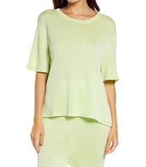 women's honeydew intimates sun soaker lounge t-shirt, size medium - green