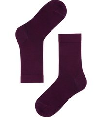 calzedonia - short wool and cotton socks, 40-41, burgundy, men