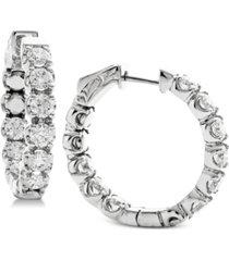 diamond in & out hoop earrings (3-1/4 ct. t.w.) in 14k white gold
