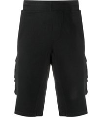 c.p. company multi-pocket track shorts - black