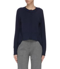 a-line frayed hem sweater