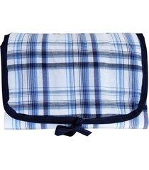 trocador de fraldas pocho portátil bolsa dobrável enxoval bebê azul