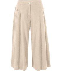 pantaloni culotte in lino (beige) - bpc bonprix collection