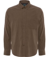 none of the above khaki cord long sleeve shirt notobc-khk