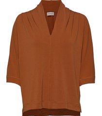 bijana blouses short-sleeved brun by malene birger