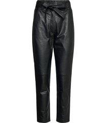 indie leather trousers slimfit broek skinny broek zwart second female