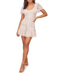 women's astr the label smitten lace minidress, size large - white