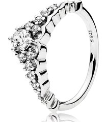 925 sterling silver fairytale tiara clear cz ring for women qjcb1343