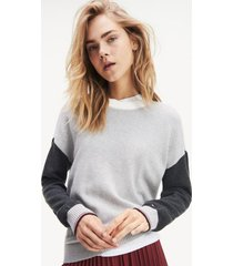 sweater slim hadlie gris tommy hilfiger