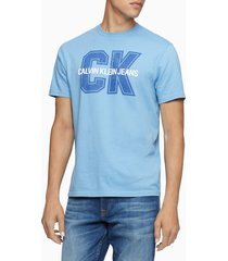 camiseta azul calvin klein