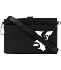 ports v varsity logo shoulder bag - black