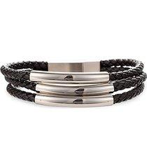jaxon titanium & leather bracelet