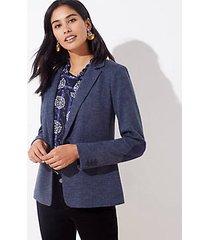 loft herringbone elbow patch knit modern blazer