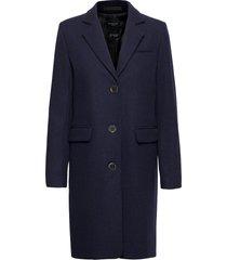 slfelina wool coat b noos wollen jas lange jas blauw selected femme