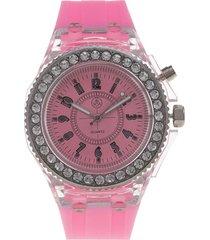 reloj analogo casual rosado vox