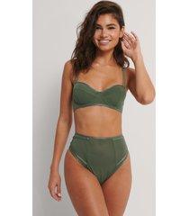 na-kd lingerie trosa i mesh med hög midja - green