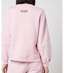 ganni women's software isoli sweatshirt - sweet lilac - m